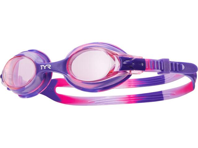 TYR Swimple Tie Dye Svømmebriller Børn pink/violet (2019) | swim_clothes
